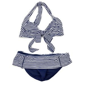 Seafolly Striped Pin Up Skirted Hipster Bikini